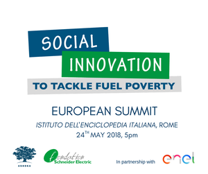 "ASSIST tra i 15 imprenditori socialipresenti alla conferenza ""Social Innovation to Tackle Fuel Poverty: the best European practices awarded in Rome"""